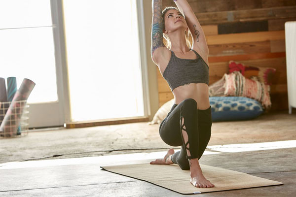 Корков йога мат